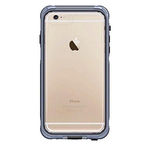Phone case & Hülle Für IPhone 6 Plus / 6s Plus, ABS Material wasserdicht Schutzhülle mit Knopf- und Touchscreen-Funktion ( Color : Grey ) Grey