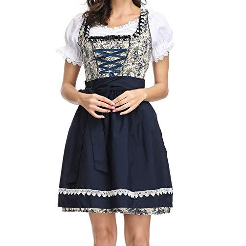 Cuteelf Frauen 3 Stück Kleid Bayerisches Bier Festival Cosplay Kostüm Oktoir Maid Kostüm Kleid Kostüm Garten Wind Kleine Blumen Schürze Sexy Retro - Daisy Duck Sexy Kostüm
