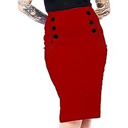 Steady Clothing - Falda - Lápiz - para mujer rojo 38