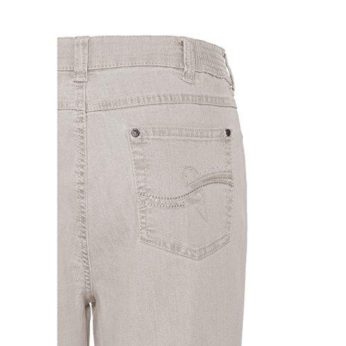 Anna Montana Dora London (Nr. 4014) Jeans für Damen - Comfort Fit, Formbeständig - Damenjeans mit Knopfleiste, geradem Schnitt und komfortabler Leibhöhe beige (10)