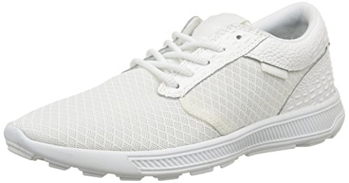 Supra Hammer Run, Baskets Basses Mixte Adulte Blanc (White Croc/White)