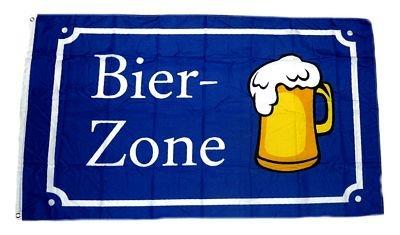 Fahne / Flagge Bier Zone 90 x 150 cm Fahnen Flaggen