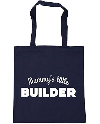 hippowarehouse Mummy's Little Builder Sac à shopping/Sac de plage 42cm x38cm, 10litres - bleu - Taille unique