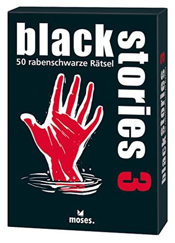 Moses black stories 3, 50 rabenschwarze Rätsel, Das Krimi Kartenspiel