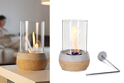 Glasfeuer Tischkamin Feuerstelle Kamin Tischfeuer Bio Ethanol (Korki)