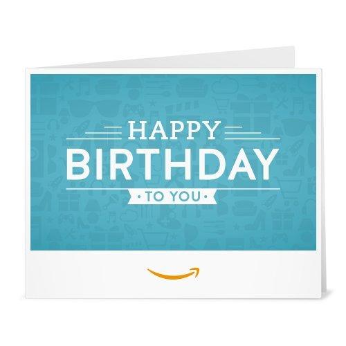 Birthday Icons - Printable Amazon.co.uk Gift Voucher Test