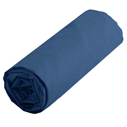 Lovely Casa dh24820012Alicia Spannbetttuch 140x 190cm Baumwolle blau Jean