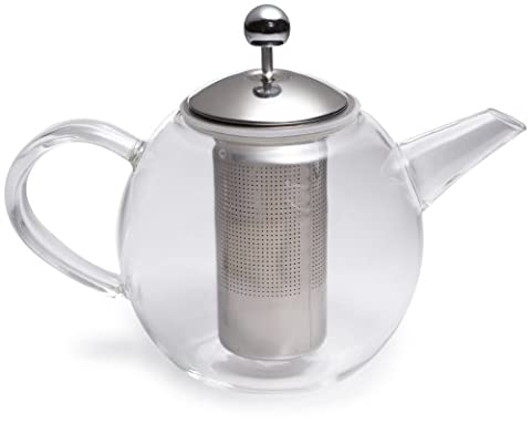 Bonjour 53840 Round Glass Teapot with Shut Off Infuser - 1010ml