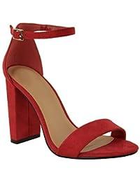 Sandale habillée coloris rouge talon fin cocktail 568 4cb53fb093c9