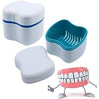 Boîte à Dentier avec Panier,Prothèse Dentaire Bain Boîte Étui Dentaires Dentier Conteneur de Stockage Rinçage Panier Récupérer Retainer Box Boîte Bath Applianc 1pc (Blanc)par sweetlife