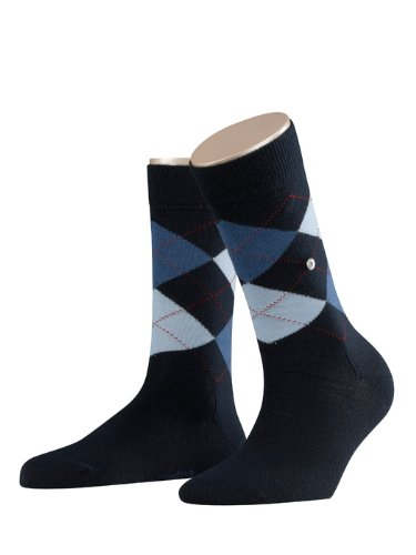 Burlington Damen Socken Marylebone, Gr. 36/41, blau (navy 6375) (Navy Socken Wolle)