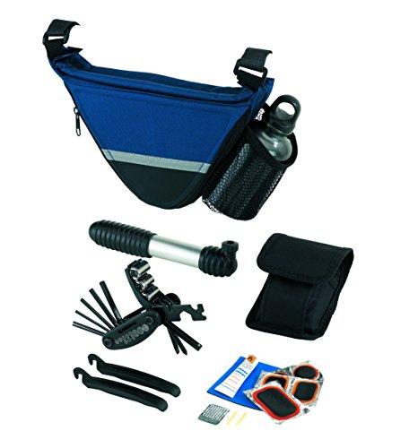 Fahrradtasche mit Werkzeug Satteltasche Reifenflickzeug plus Trinkflasche Fahrradpacktasche