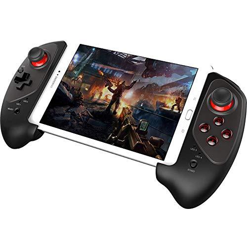 BESTSUGER Kabelloser Bluetooth-Gamecontroller, teleskopischer Gamepad-Key-Mapping-Gaming-Controller mit Ziel und flexiblem Joystick für Android iOS