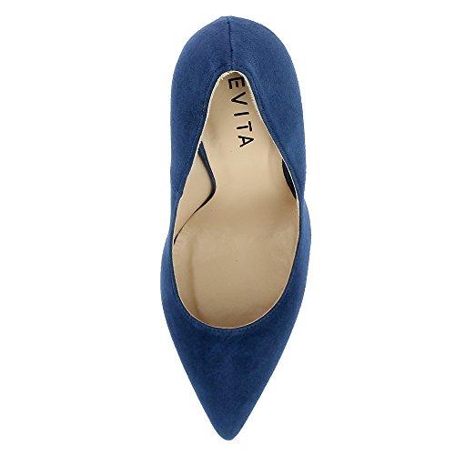 Evita Shoes Mia, Scarpe col tacco donna Blau
