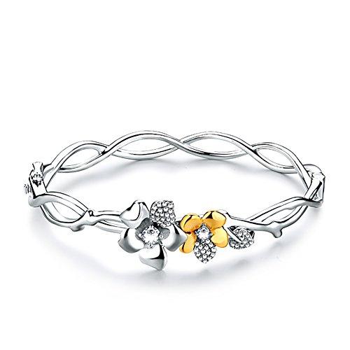 fleur bracelet/925Bijoux bijoux en argent/ cadeaux d'anniversaire B
