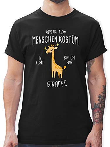 Kostüm Baby Giraffe - Karneval & Fasching - Das ist Mein Menschenkostüm in echt Bin ich eine Giraffe - 3XL - Schwarz - L190 - Herren T-Shirt und Männer Tshirt