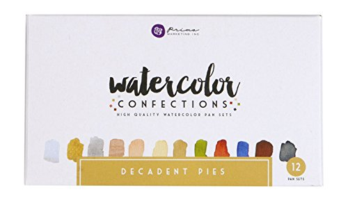 PRIMA MARKETING WATERCOLOR CONFECTIONS WATERCOLOR PANS 12/PK DECADENT PIES