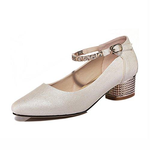 Chaussures femme HWF La Bouche Peu Profonde de Bouche a pointé Les Chaussures Simples des Femmes