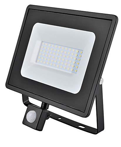 50w LED Flutlicht/Floodlight/Scheinwerfer 4000k - Schwarz mit Bewegungsmelder (Eveready s13951) -
