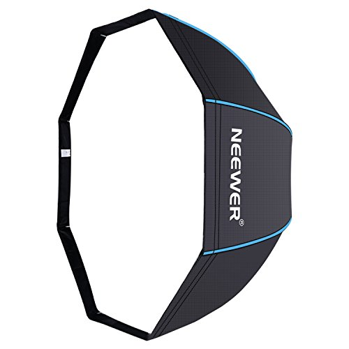 Neewer 80cm Softbox Ottagonale Portatile per Flash Speedlite da Studio, con Diffusore Bianco & Borsa di Trasporto, per Ritratti Foto di Prodotti (Nero/Blu)