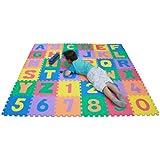 TLCmat® Soft Alphabet & Number Puzzle Play Mat Jigsaw 36pcs (A-Z & 0-9) with Storage Bag