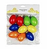HAAC 10 Stück Ostereier Deko Eier Eierset Ostern bunt aus Kunststoff 6 cm