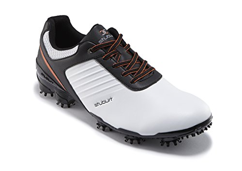 Stuburt Men's Sport Tech Golf Shoes, White (White), 9.5 UK