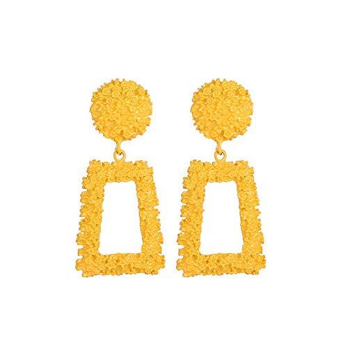 Pendientes amarillos cuadrados