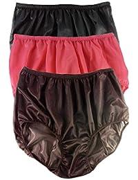 5ef49469f433ea Nylon Knickers A27 Lots 3 Full Briefs Knicker Women Multipack Sissy Panties  for Men