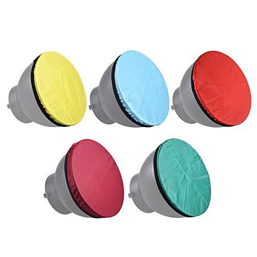 Docooler Fotografie Diffusor weichen Stoff Kit für 7 in 180mm Standard Studio Strobe Reflektor Licht weichen Tuch 5 Farben/Set Licht weich Standard-studio-kit
