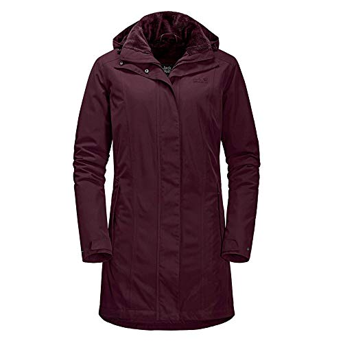 Jack Wolfskin 1107732 Madison Avenue Damen Outdoormantel wind- und wasserdicht, Groesse 40, burgund