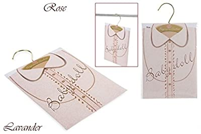 Set of 2 Scented Sachets/Air Freshener For The Wardrobe Rose and Lavender
