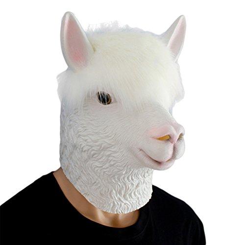 Auspicious Beginning Alpaca Latex Kopf Neuheit Kostüm Party Maske, Tier Kopf ()