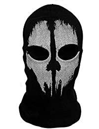"""Neck mask - SODIAL(R)Round neck mask Hood """"Ghost Skull"""" -Call Of Duty Modern Warfare - Airsoft Paintball motorcycle Outdoor color # 2"""