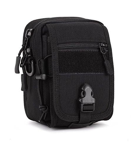 Imagen de huntvp  táctical  de hombro  de bandolera  de pecho estilo militar bolso de múltiple función  ejércita bolso impermeable para correr, senderismo, ciclismo,camping, caza, etc, color negro.