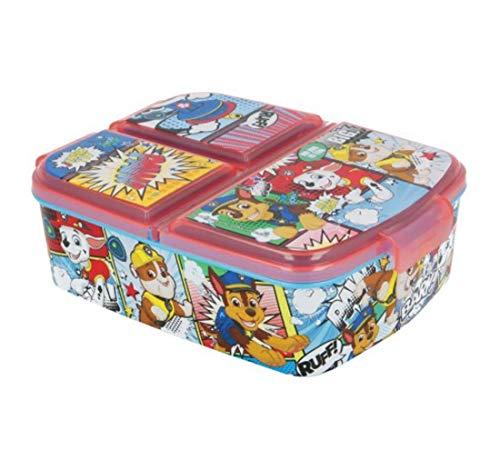 Theonoi Kinder Brotdose / Lunchbox / Sandwichbox wählbar: Frozen PJ Masks Spiderman Avengers - Mickey - Paw aus Kunststoff BPA frei - tolles Geschenk für Kinder (Paw Patrol) Abendessen-geschenk-set