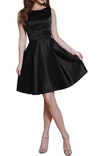 Charmant Damen Burgundy Abendkleider Kurzes Satin Mini Ballkleider Cocktailkleider Festliche Kleider Damen Schwarz
