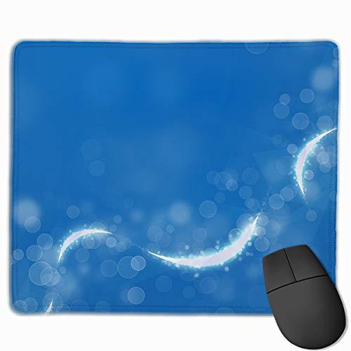 Gaming Mauspad Circles Glitter Line Light Rubber Mousepad (30 x 25 cm) | Fransenfreie Ränder | Rutschfest Glitter Line