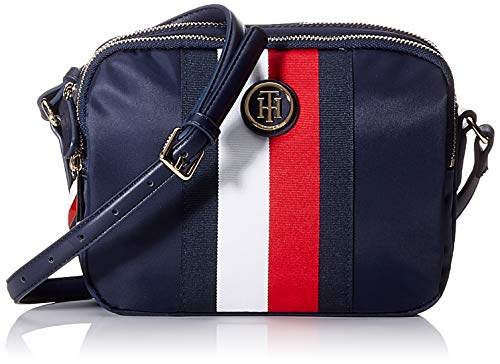 Tommy Hilfiger Poppy Crossover Corp, Sacs bandoulière femme, Blanc (Corporate),