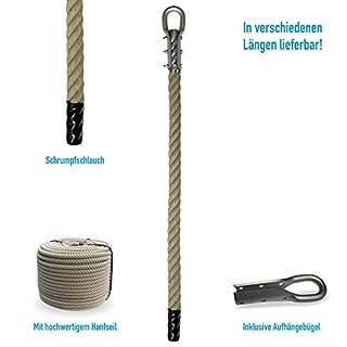 Grevinga® Klettertau mit Schrumpfschlauch und Kausche (verschiedene Längen) (6,00 Meter)