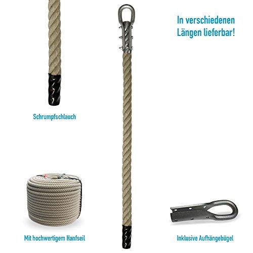 Grevinga® Klettertau mit Schrumpfschlauch und Kausche (verschiedene Längen) (7,00 Meter)