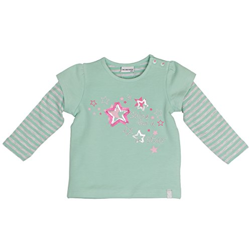 SALT AND PEPPER SALT AND PEPPER Baby-Mädchen Sweatshirt B Sweat Princess 2in1 Grün (Jade Green Melange 642) 68