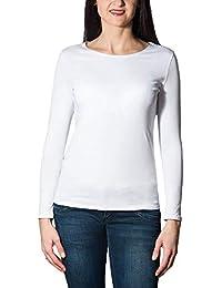weißes langarm damen t shirt