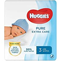 Huggies Pure Extra Care Baby Wipes, 12 Packs x 56 Sensitive Baby Wipes (672 Wipes)