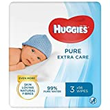 Huggies Pure Extra Care Baby Wipes, 1 Box with 4 pacs (3 x 56 wipes per pack) Sensitive Baby Wipes (672 Wipes)
