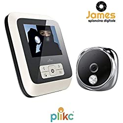 Judas électronique numérique ultra plat avec vision nocturne et possibilité de photo et vidéo-Plikc James