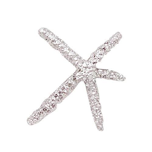 Finebuying Mode Frauen Strand Coral Star Haarspange Haarspange Haarnadel Bobby Pin Schmuck ()