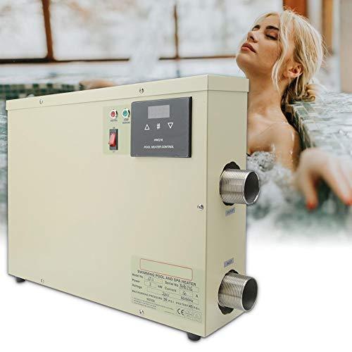 Nannday Intelligenter digitaler Thermostat, wasserdichter Pool Heizungs Thermostat Swimming Pool Badekurort heiße Wanne elektrischer Warmwasserbereiter Pumpen behilflicher Thermostat 5.5KW(EU 220V)