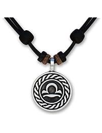 1 von 12 verschiedenen Sternzeichen Tierkreiszeichen an verstellbarer Lederkette Horoskop Horoscope Halskette Surferkette HANA LIMA ®