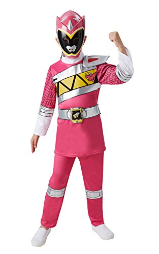 Rubie 's Offizielles Kind 's Power Rangers Dino Laden Pink Ranger - Medium